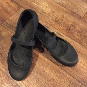 Crocs Alice Work Mary Jane Black Shoes 12